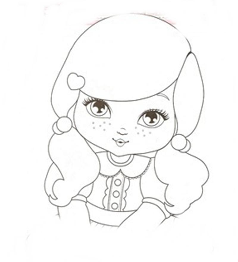 Cantinho Divertido Bonequinha Jolie para colorir