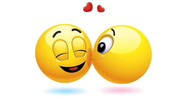 Kiss emoji text