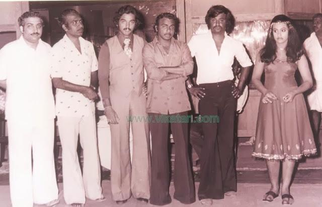 'Thalaivar' Rajinikanth with Kamal Hasan, Actress Seema & Director Magendran