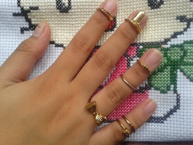 Bornprettystore Set of Knuckle Ring