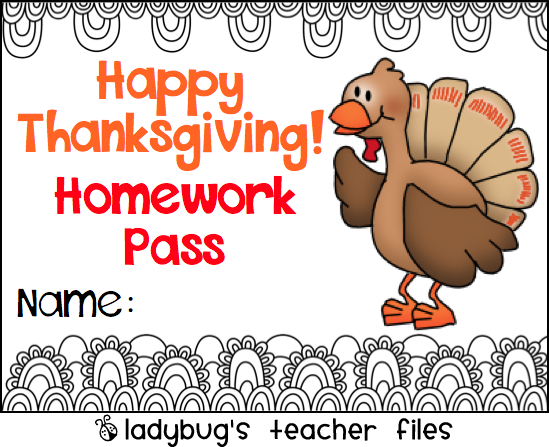photograph regarding Printable Homework Pass called Thanksgiving Research P printable Ladybugs Trainer Information
