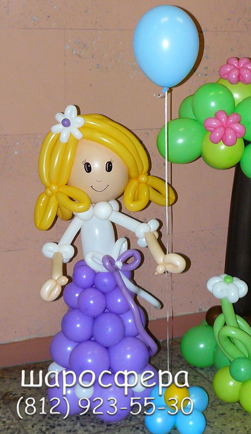 Как из шариков сделать девочку