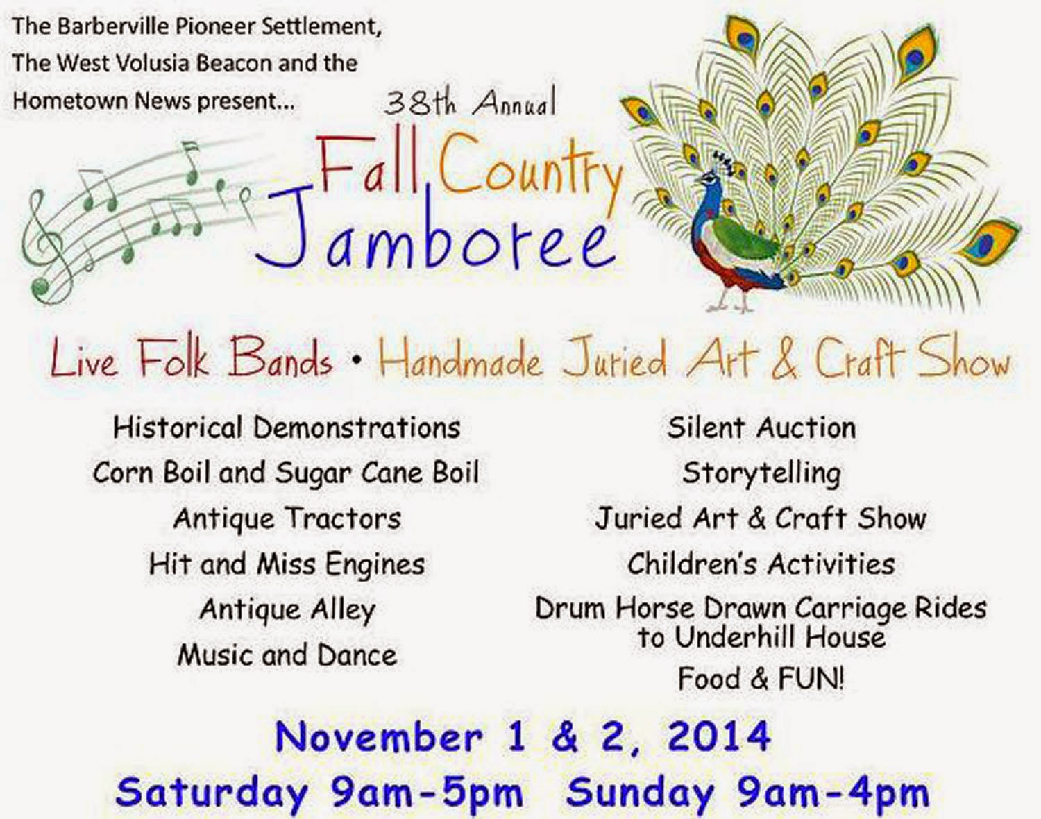 http://www.pioneersettlement.org/#!38th-Fall-Country-Jamboree/c1zty/C53D0797-73E7-4E3C-8338-2DF6A89A2F7A