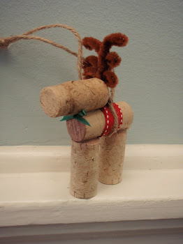 Wine Cork Reindeer Close-up