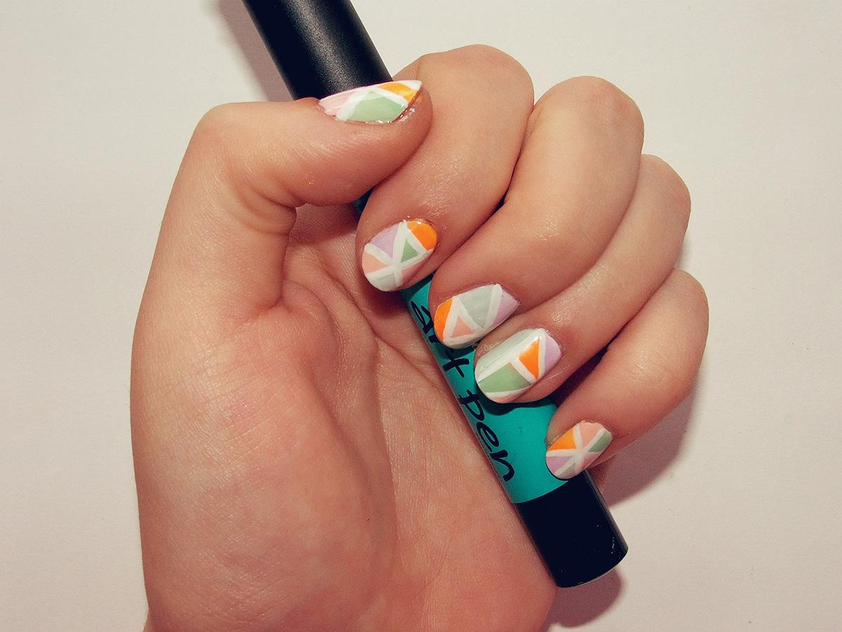 diy summer mosaic nail art coolsario blog