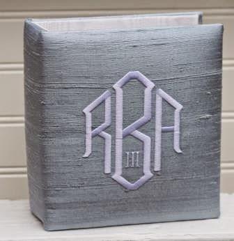 custom monogrammed baby book