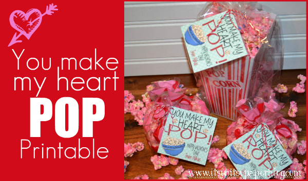 image regarding Popcorn Valentine Printable called Paper Paint and Pine: . . . Valentine, On your own Generate My Center POP