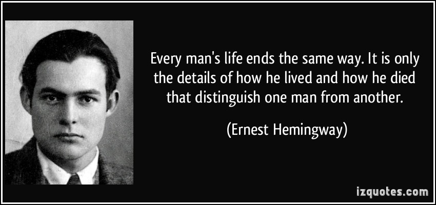 Hemingway: distinguish one man from another