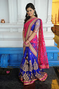 Sri Mukhi Gorgeous Half saree Photos-thumbnail-4