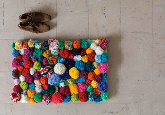 Weekend Project: A Crazy Pom Pom Rug