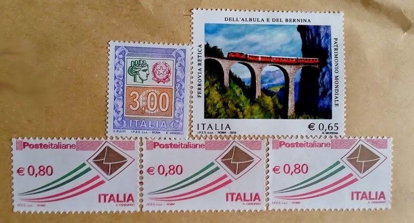 francobollo Ferrovia Retica dell'Albula e del Bernina