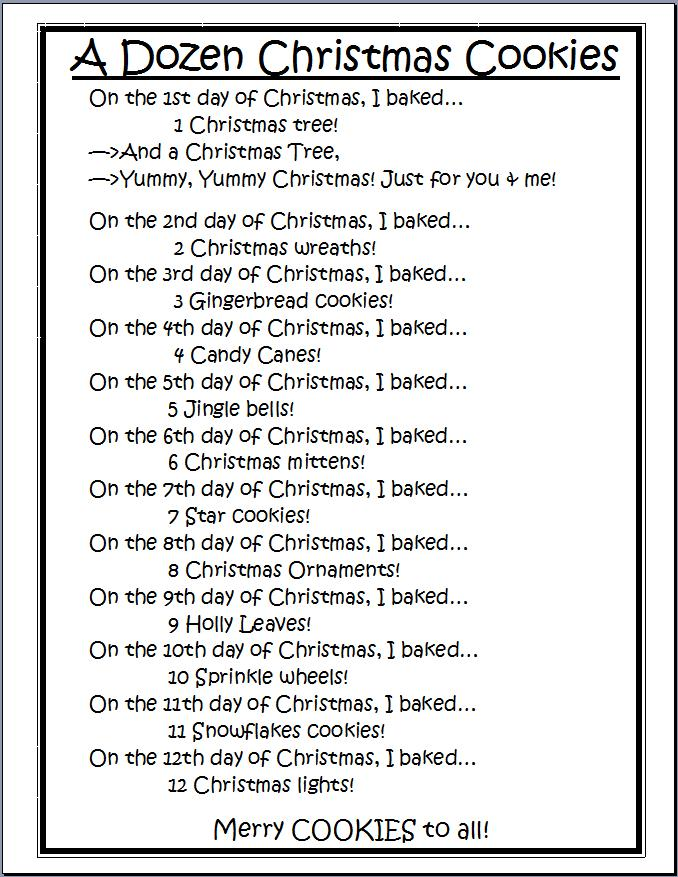 Christmas cookies lyrics