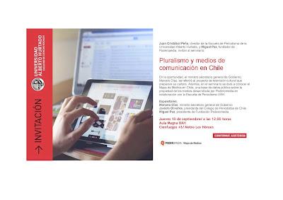 """INVITACION SEMINARIO """" PLURALISMO Y MEDIOS DE COMUNICACION EN CHILE"""""""