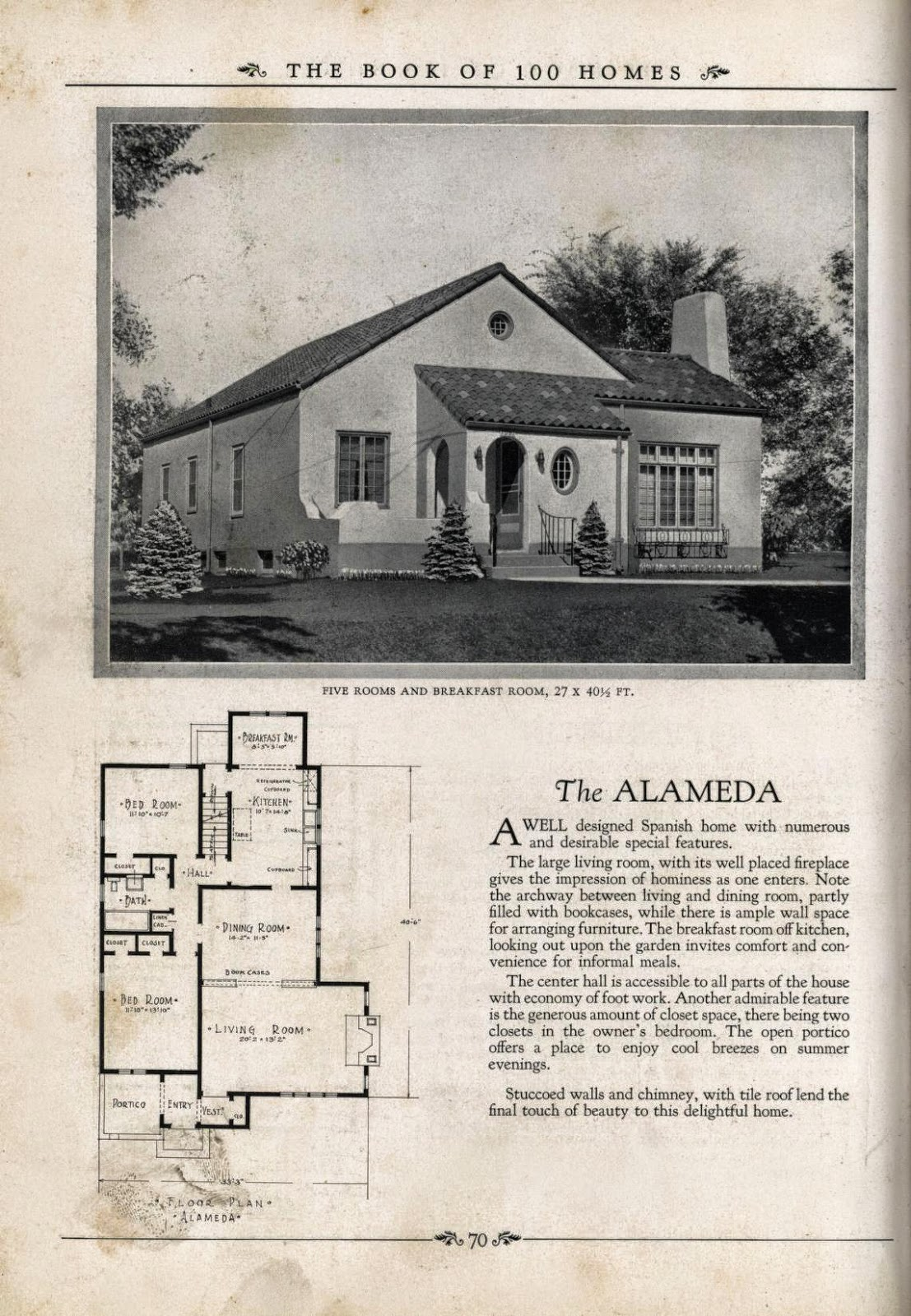 Vintage spanish revival house plans home design and style for Art deco house plans