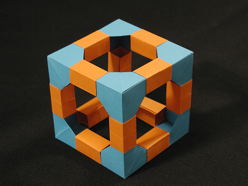 Modular Origami Cube Instructions