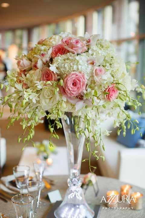 blush wedding flowers, blush roses, blush flowers, wedding centerpiece, Flora Nova Design Seattle