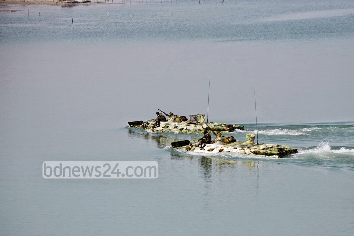 Massive assault River crossing exercise by Bangladesh Armed Forces