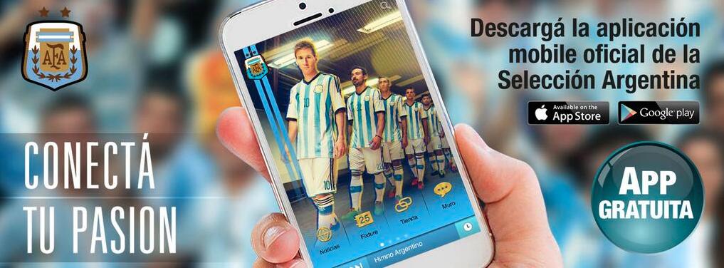 descarga la aplicacion oficial de la selección argentina de futbol