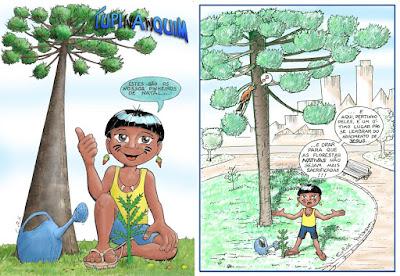 Tupinanquim e o pinheiro de natal nativo do Brasil