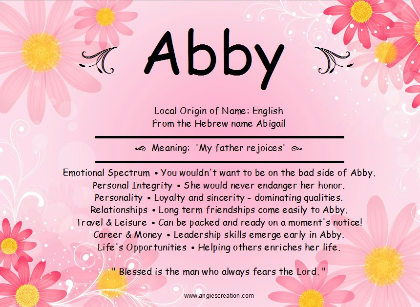 The Name Abby In Bubble Letters