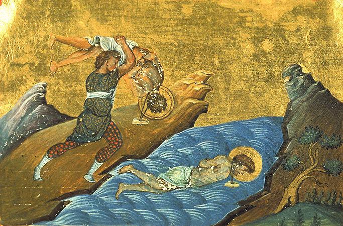 Illustrasjon fra Basilios IIs menologion, Konstantinopel 985