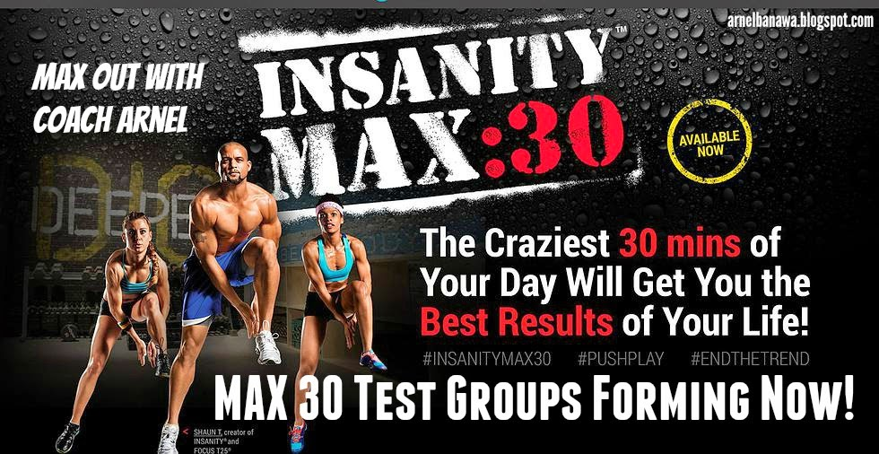 Insanity Max 30 Test Group Results