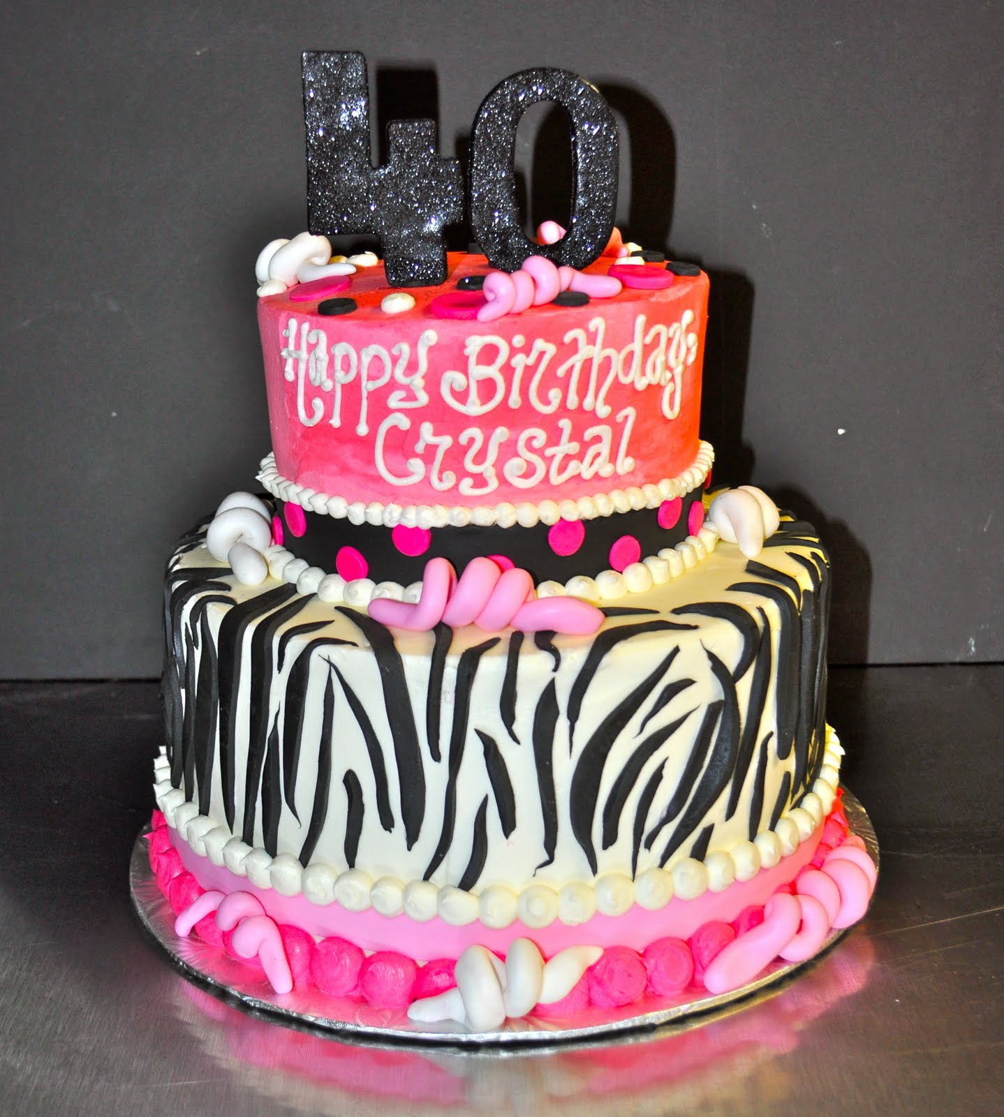 Coolest Cupcakes Pink And Zebra Birthday Cake