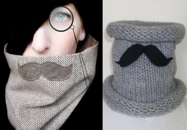 mustache scarf