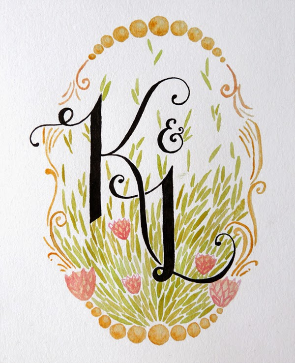 Happiness is... Custom Monogram Illustration - by fathima kathrada, durban