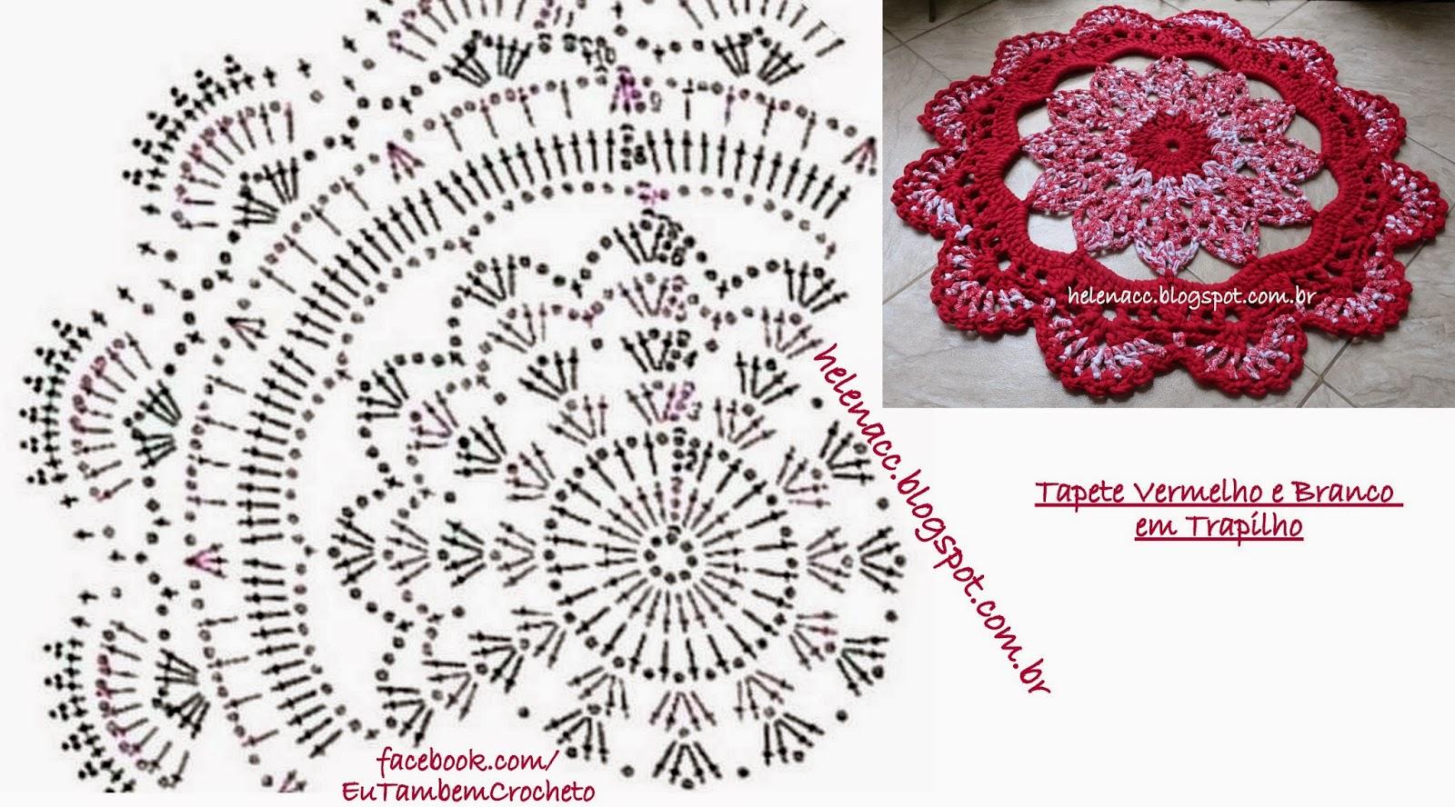 Вязание крючком ковриков на пол: схема, фото
