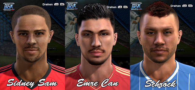 Sidney Sam, Emre Can e Schröck Faces - PES 2013
