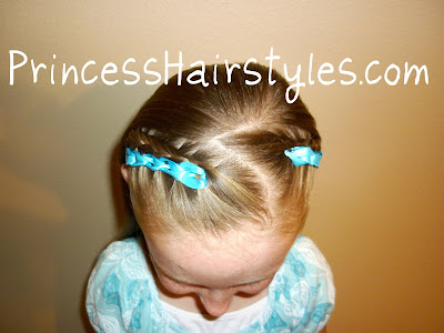 ribbon crocheted hairstyle