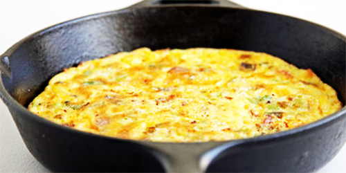 receta: tortilla de Queso al Horno
