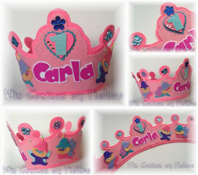 corona de cumpleaños, corona de fieltro, fiesta, felt crown, hadas, fairy crown,