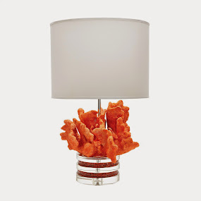 Barrier Reef Orange Coral Lamp - Gorgeous!