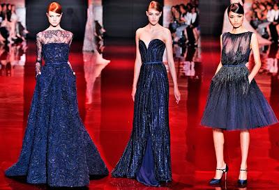 vestido alta costura azul - Elie saab