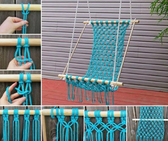 Make the most relaxing macrame hammock ever diy craft for Diy macrame hammock