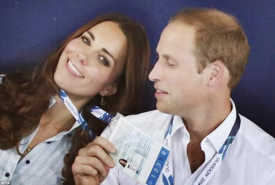 Prince William and Kate Middleton put on rare PDA at CW Games