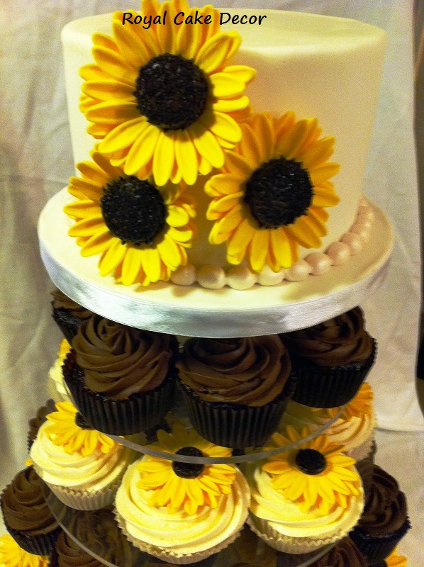 Fondant Sunflower | Royal Cakes Decor