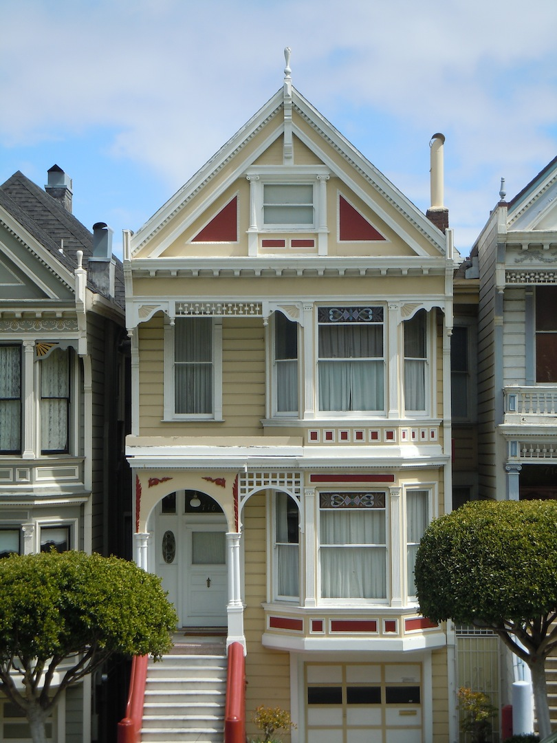San Francisco Notes Victorian Houses