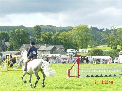 jumping at Hawkshead show