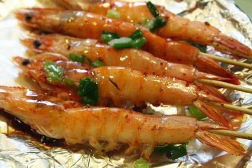 Vietnamese Food - Tôm Nướng Muối Ớt
