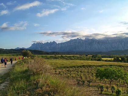 La muntanya de Montserrat vista des del amí Romeu al seu pas per la zona de la Boïga