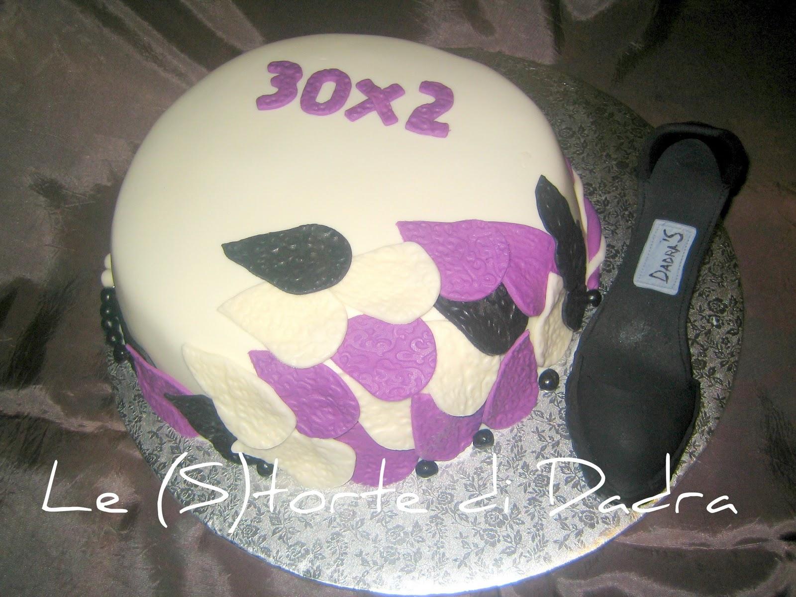 S torta con scarpa e fantasia per i primi 60 anni for Decorazioni per torta 60 anni