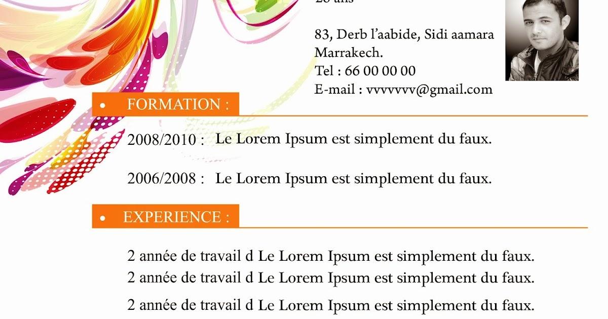 comment faire un cv  model de cv et demande d u0026 39 emploi pour cuisinier
