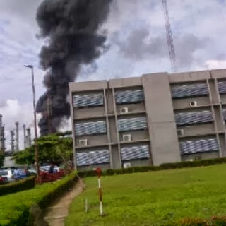 Oil Reinery Gutted By Fire in Warri.