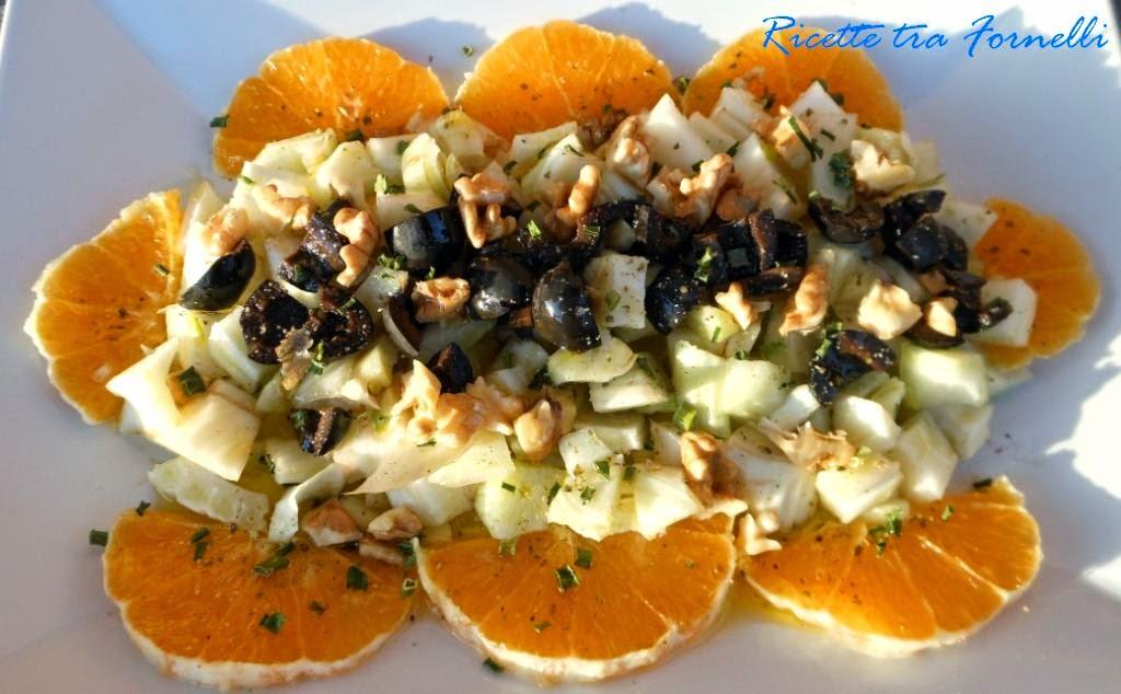 insalata di finocchi, arancia, olive e noci