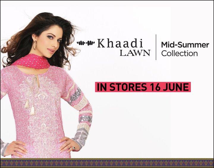 Khaadi Mid Summer Collection 2014 Khaadi Mid Summer Lawn