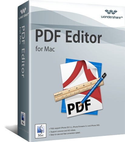 Caja del software: Wondershare PDF Editor para Mac