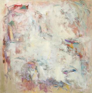 Acrylic abstract painting by artist Karri McLean Allrich, 48x48 - Soft Asylum